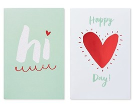 American Greetings Hi Valentine's Day Card with Glitter, 6-Count, 2 designs - $7.05