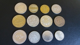 Great lot of 12 Russian slot machine tokens - $65.00