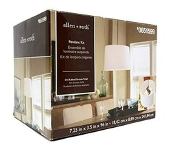 allen + roth Bronze Metal Swag Light Kit with Cord - $23.73
