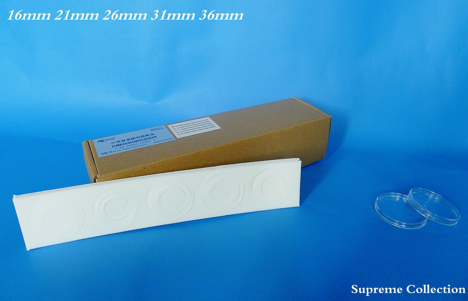 30 Pcs Box Round Shape Air Tite Coin holder 16 21 26 31 36mm High Quality White