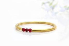 January birthstone bracelet,garnet bracelet,14k gold bracelet,bridal bra... - $79.00