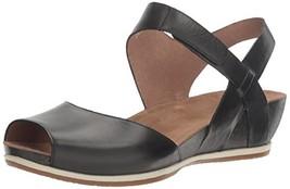 Dansko Women's Vera Flat Sandal, Black Burnished, 39 M EU 8.5-9 US - $190.82