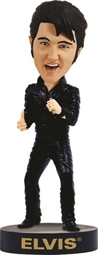 Elvis presley  black leather  68 comeback special   bobblehead
