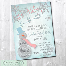 Winter Gender Reveal Invitation/Digital File/printable/Wording can be ch... - $15.00