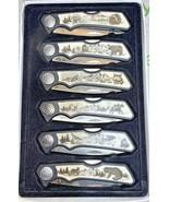 MAXAM WILDLIFE 6 LOCK-BLADE POCKET KNIFE COLLECTORS SET IN GIFT BOX - $49.49