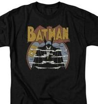 Batman T-shirt 70s comic book art retro 80s cartoon DC black graphic tee DCO645 image 1