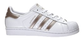 Adidas Superstar Unisex Sneakers In White With Gold Details - $108.00