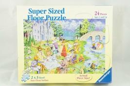 Ravensburger Super Sized 24 Piece Critter Tea Party 2x3ft Floor Jigsaw P... - $14.03