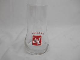 Old Vtg 1970's 7-UP THE UNCOLA ADVERTISING GLASS Upside Down Soda Pop Be... - $19.79