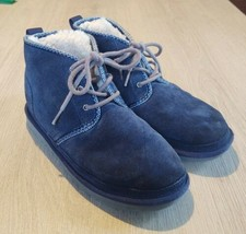Womens UGG Neumel Suede Navy Blue boots size 5 - $77.39