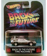 Hot Wheels Retro Entertainment. Back to The Future Time Machine 2 DeLorean. - $11.99