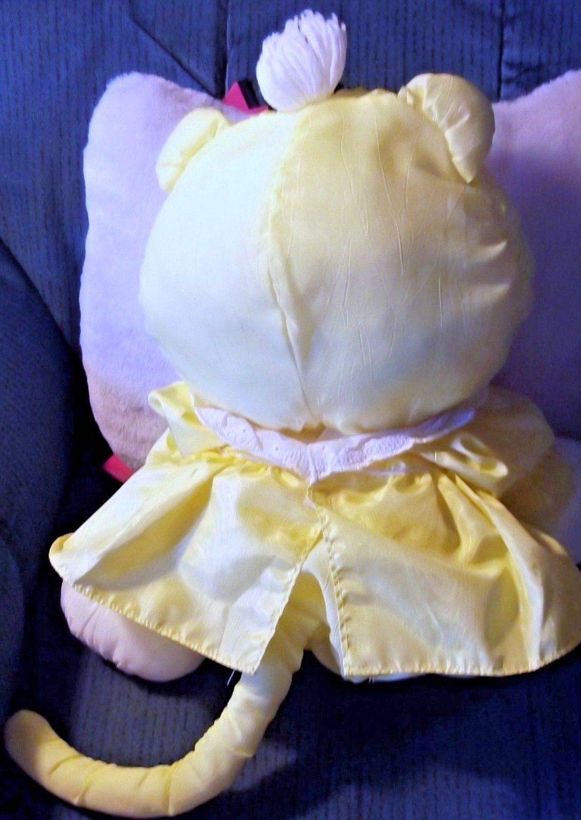 Vintage Fisher Price Yellow Cat Puffalump