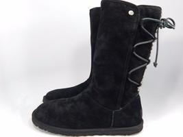 UGG Lo Pro Lace Up Tasman Black Boots Size 8 M (B) EU 39 Model # 1010820