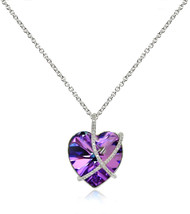 "GemStar USA Sterling Silver Vitrail Light Criss Cross Engraved ""A Kiss f... - $86.42"