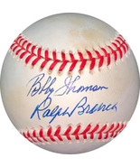 Bobby Thomson & Ralph Branca dual signed  RONL Rawlings Official Nationa... - $84.95