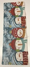 Gorgeous Snowmen Winter Snowflakes Shimmering Table Runner Christmas Hol... - $15.88