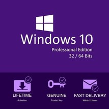 WINDOWS 10 PROFESSIONAL  32 & 64 BIT ACTIVATION CODE / LICENSE KEY-Full ... - $7.00