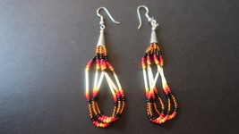 Vintage Southwestern Style Dangle Earrings 3 3/8 inches - $22.77