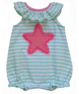 Starting Out Newborn (0-3 Mos.) Baby Girls Striped Sunsuit - $6.99