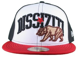 Dissizit New Era Fitted 59Fifty white/red/black Collegiate CALI Bear Hat Cap image 1