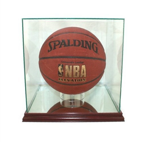 Perfect Cases Glass Basketball Rectangle Display Case with Mirror