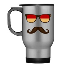 Indonesian Flag Sunglasses Mustache Travel Mug - $21.99