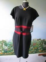 Danny & Nicole Women's Black short Sleeve Dress Size 16 NWT - $39.59