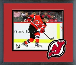 Taylor Hall 2018-19 New Jersey Devils -11x14 Team Logo Matted/Framed Photo - $43.95