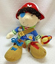 Manhattan Toy Learn to Dress Pirate Soft Plush Doll Learning Toy 2006 - $22.99