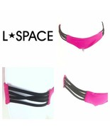 L Space Strap Side Full Cut Bikini Bottoms Pink Womens M Medium - $19.80