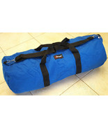 Vtg EASTPAK  Blue Canvas Duffle Duffel Bag with Strap Made in USA-Blue-H... - $42.06