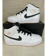 Nike Air Jordan 1 Mid Arctic Orange 554725-180 (GS) Size 6.5Y Brand New - $148.47