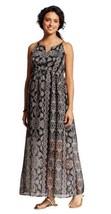 Liz Lange Maternity Pregnancy Printed Maxi Long Dress Black New Pregnant... - $19.34