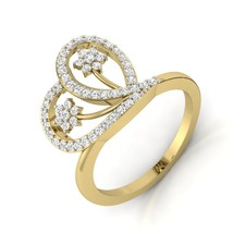 Gift For Bridal Jewelry Flower Design Anniversary Ring For Women Diamond Jewelry - $99.99