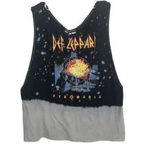 FaB 208 NYC Shirt Def Leppard Pyromania Sleeveless T-Shirt LARGE - $25.95