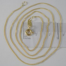 18K YELLOW GOLD CHAIN 17.7 MINI CUBAN CURB GOURMETTE LINK 0.9 MM, MADE IN ITALY image 1