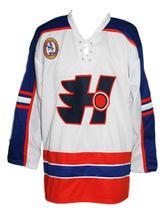 Custom Name # Halifax Highlanders Retro Hockey Jersey White Belchior #1 Any Size image 1