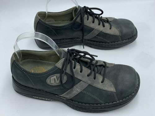Merrell Mens 10 Charcoal Black Oxford Lace Up Leather Shoes image 3