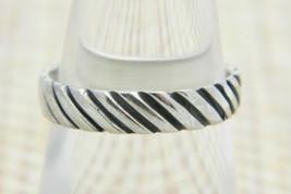 .925 Sterling Silver Embossed Diagonal Symbol Band Southwest Ring 5.25 Vintage - $29.69
