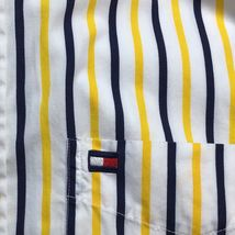 Tommy Hilfiger Mens Size S Shirt Button Front Long Sleeve Flag Logo Stripe A3-7 image 5