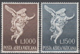 1962 Archangel Gabriel Set of 2 Vatican Postage Stamps Catalog Number C45-46 MNH