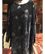 Liberty Of London Vintage Marineblau Seide Velvet Pfauenfeder Shirt-Tunika - $361.33