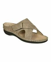 Pierre Dumas, Taupe Face Sandal, Sz 8 - $23.76