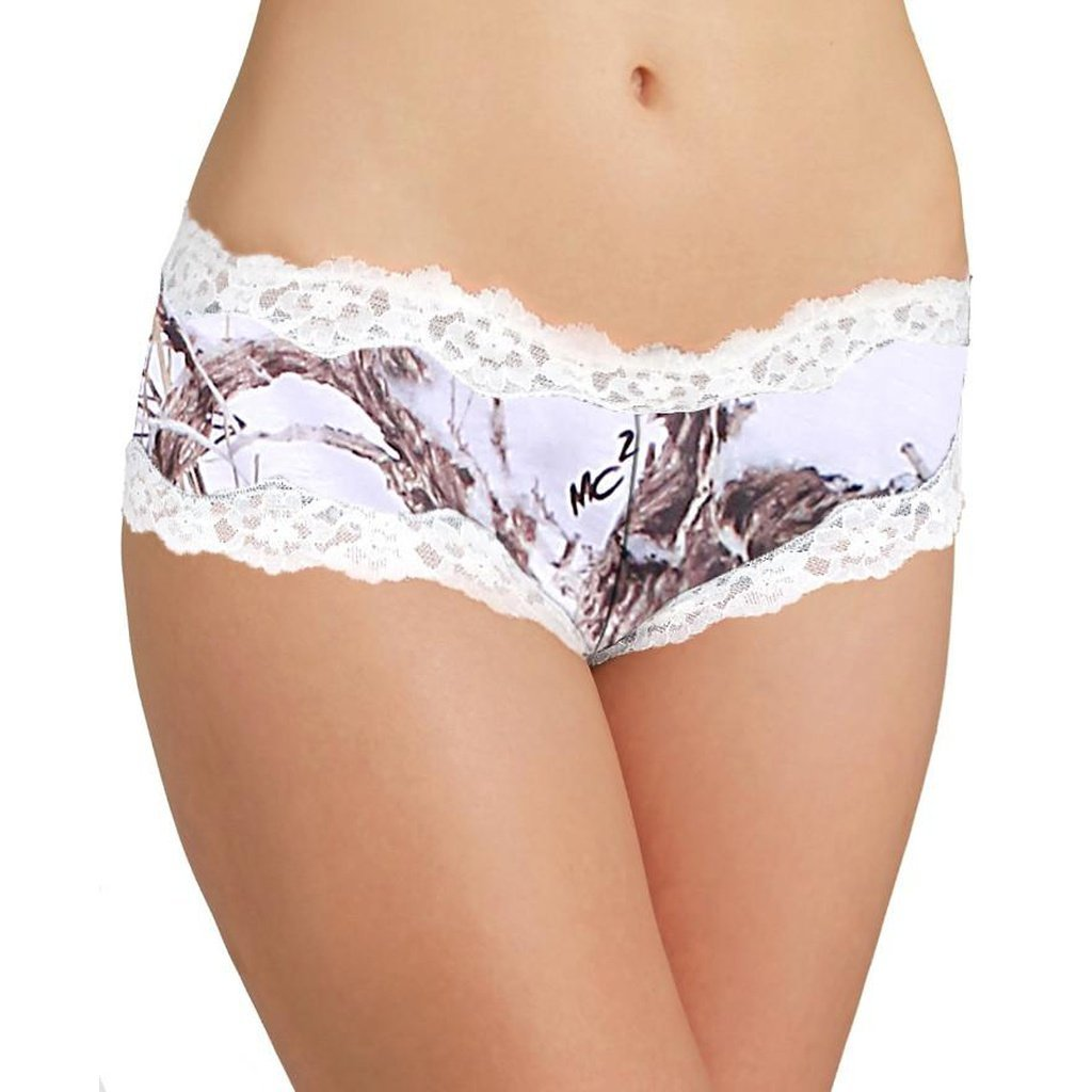 3 Pack Women's Booty Lace Boy Shorts Authentic True Timber Camo Panties