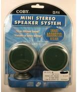 Sealed New COBY Mini Stereo Speaker System CS-P14 - $19.80