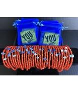 Beaded Bracelet Wholesale Box, 30 Bracelets, 30 Cards, & 30 Bags - Orange - $99.00