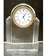 Metropolitan Waterford Crystal Desk Clock * Seiko Movement - $33.24