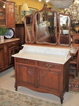 French Oak Louis XV Mirrored Dresser With 2 Drawers & 2 Doors / Washstan... - $2,042.50