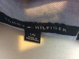 Tommy Hilfiger Blue Box Logo Zip Up Lined Jacket Size L Members Only Style image 6