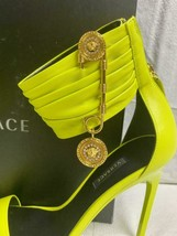 Authentic VERSACE Safety Pin Nappa Leather Shoes Sandals Size 40 IT / 9.5 US - $940.49